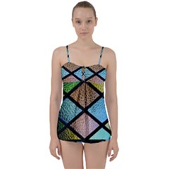Stained Glass Soul Babydoll Tankini Set