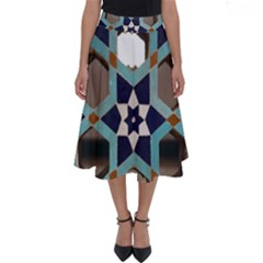 Cornflower Blues Perfect Length Midi Skirt