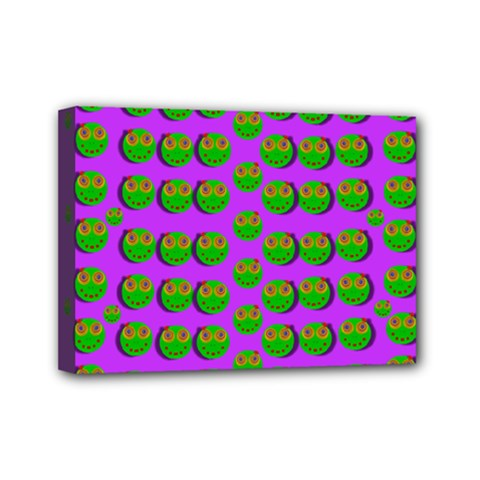 The Happy Eyes Of Freedom In Polka Dot Cartoon Pop Art Mini Canvas 7  X 5  (stretched) by pepitasart