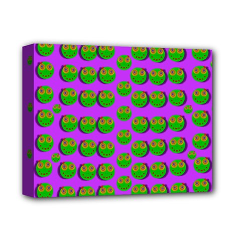 The Happy Eyes Of Freedom In Polka Dot Cartoon Pop Art Deluxe Canvas 14  X 11  (stretched)