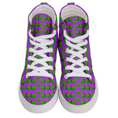 The Happy Eyes Of Freedom In Polka Dot Cartoon Pop Art Men s Hi Top Skate Sneakers