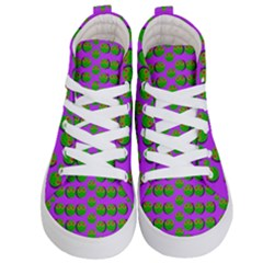 The Happy Eyes Of Freedom In Polka Dot Cartoon Pop Art Kids  Hi Top Skate Sneakers