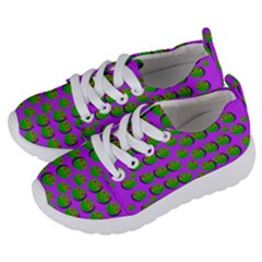 The Happy Eyes Of Freedom In Polka Dot Cartoon Pop Art Kids  Lightweight Sports Shoes by pepitasart