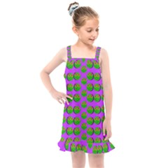 The Happy Eyes Of Freedom In Polka Dot Cartoon Pop Art Kids  Overall Dress