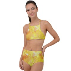 Yellow Party High Waist Tankini Set