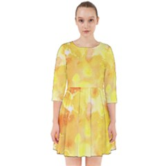 Yellow Party Smock Dress