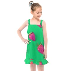 Strawberry Green Kids  Overall Dress