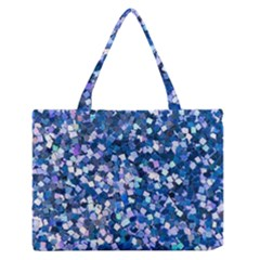 Blue Shimmer Zipper Medium Tote Bag by WensdaiAddamns