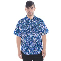 Blue Shimmer Men s Short Sleeve Shirt