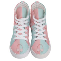 Got My Headphones On     Men s Hi Top Skate Sneakers