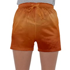 Orange Watercolor Sleepwear Shorts by TimelessFashion