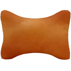 Orange Watercolor Seat Head Rest Cushion by TimelessDesigns