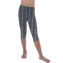 Circle Chic Grey Kids  Lightweight Velour Capri Leggings