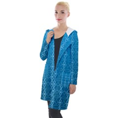 Circle Chic Blue Hooded Pocket Cardigan by FEMCreations