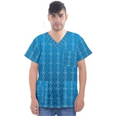 Circle Chic Blue Men s V Neck Scrub Top