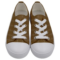 Circle Chic Brown Kids  Low Top Canvas Sneakers