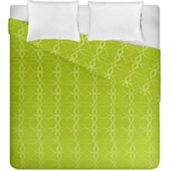 Circle Chic Yellow Duvet Cover Double Side (king Size)