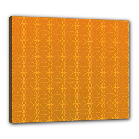 Circle Chic Orange Canvas 24  X 20  (stretched) by TimelessDesigns