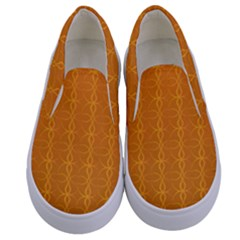 Circle Chic Orange Kids  Canvas Slip Ons