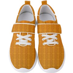 Circle Chic Orange Men s Velcro Strap Shoes by FEMCreations