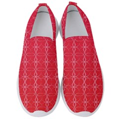 Circle Chic Red Men s Slip On Sneakers by TimelessFashion