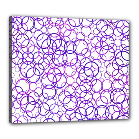 Surounded By Circles Canvas 24  X 20  (stretched) by TimelessDesigns