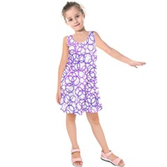 Surounded By Circles Kids  Sleeveless Dress
