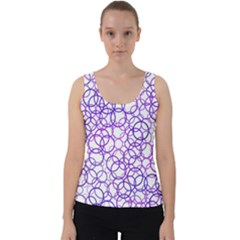Surounded By Circles Velvet Tank Top
