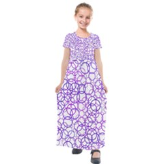 Surounded By Circles Kids  Short Sleeve Maxi Dress