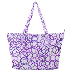 Surounded By Circles Full Print Shoulder Bag