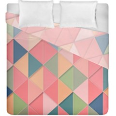 2 Triangles Make A Square Duvet Cover Double Side (king Size)