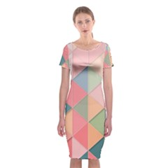 2 Triangles Make A Square Classic Short Sleeve Midi Dress by FEMCreations