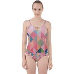 2 Triangles Make A Square Cut Out Top Tankini Set