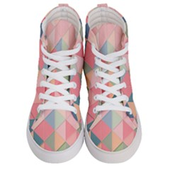 2 Triangles Make A Square Men s Hi Top Skate Sneakers