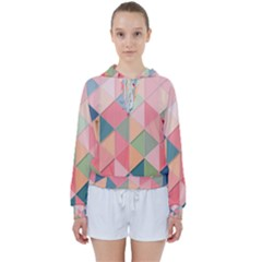 2 Triangles Make A Square Women s Tie Up Sweat by TimelessFashion