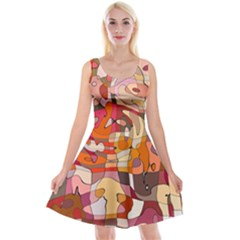 Abstract Fun Reversible Velvet Sleeveless Dress