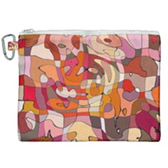 Abstract Fun Canvas Cosmetic Bag (xxl)