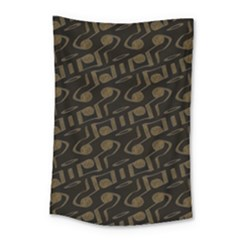 Abstract In Black And Gold Small Tapestry