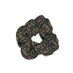 Abstract In Black And Gold Velvet Scrunchie