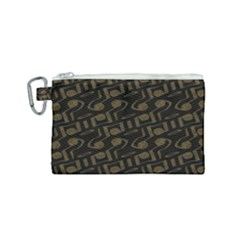 Abstract In Black And Gold Canvas Cosmetic Bag (small)