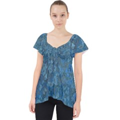 Beautifull Blue Lace Front Dolly Top