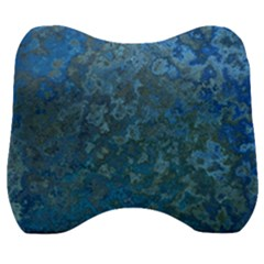 Beautifull Blue Velour Head Support Cushion