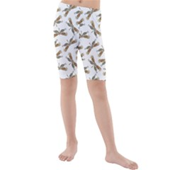 Beautifull Dragonfly Kids  Mid Length Swim Shorts by FEMCreations