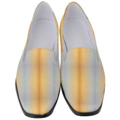 Blue, Yellow, Summer, Pattern Women s Classic Loafer Heels