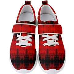 Red Black Gothic Pattern Men s Velcro Strap Shoes