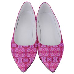 Pretty Pink Flower Pattern Women s Low Heels
