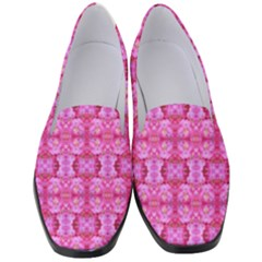 Pretty Pink Flower Pattern Women s Classic Loafer Heels