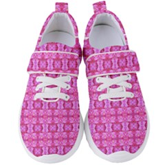 Pretty Pink Flower Pattern Women s Velcro Strap Shoes