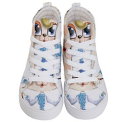 Cat Lady Kids  Hi Top Skate Sneakers