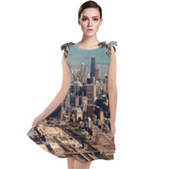 Chicago Skyline Tie Up Tunic Dress by StarvinArtisan